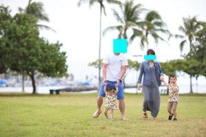 子連れハワイ旅行,ファミリーフォト,ビーチフォト,ハワイ旅行記念,ハワイ旅行思い出,ハワイ写真撮影