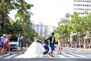 ハワイ挙式,海外挙式,ビーチフォトウェディング,フォトウェディング,ブライダルフォト,オアフ島,ハネムーン,新婚旅行