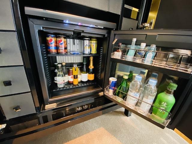 セントレジスホテル大阪の冷蔵庫内
