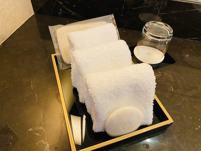 セントレジスホテル大阪のタオル
