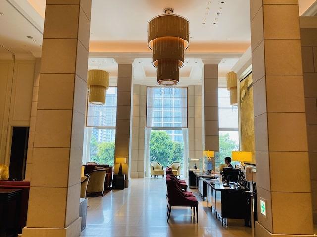 セントレジスホテル大阪のロビー