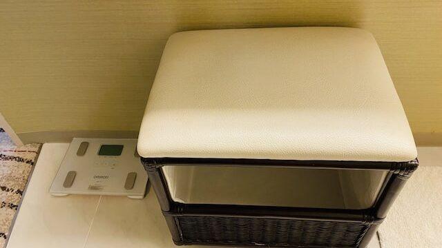 ザプリンス京都宝ヶ池オートグラフコレクションホテルの洗面台用イス