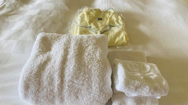 ザプリンス京都宝ヶ池オートグラフコレクションホテルのタオル類と子供用パジャマ