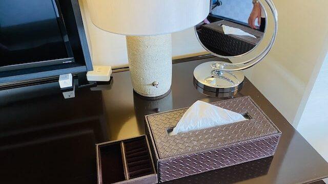 ザプリンス京都宝ヶ池オートグラフコレクションホテルのティッシュケースとジュエリーケース