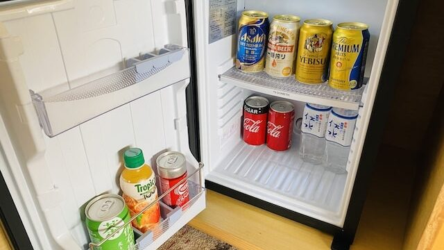 ザプリンス京都宝ヶ池オートグラフコレクションホテルの冷蔵庫中身