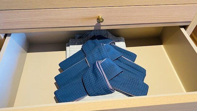 琵琶湖ホテルの客室浴衣