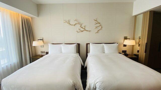 JWマリオットホテル奈良のベッド全体