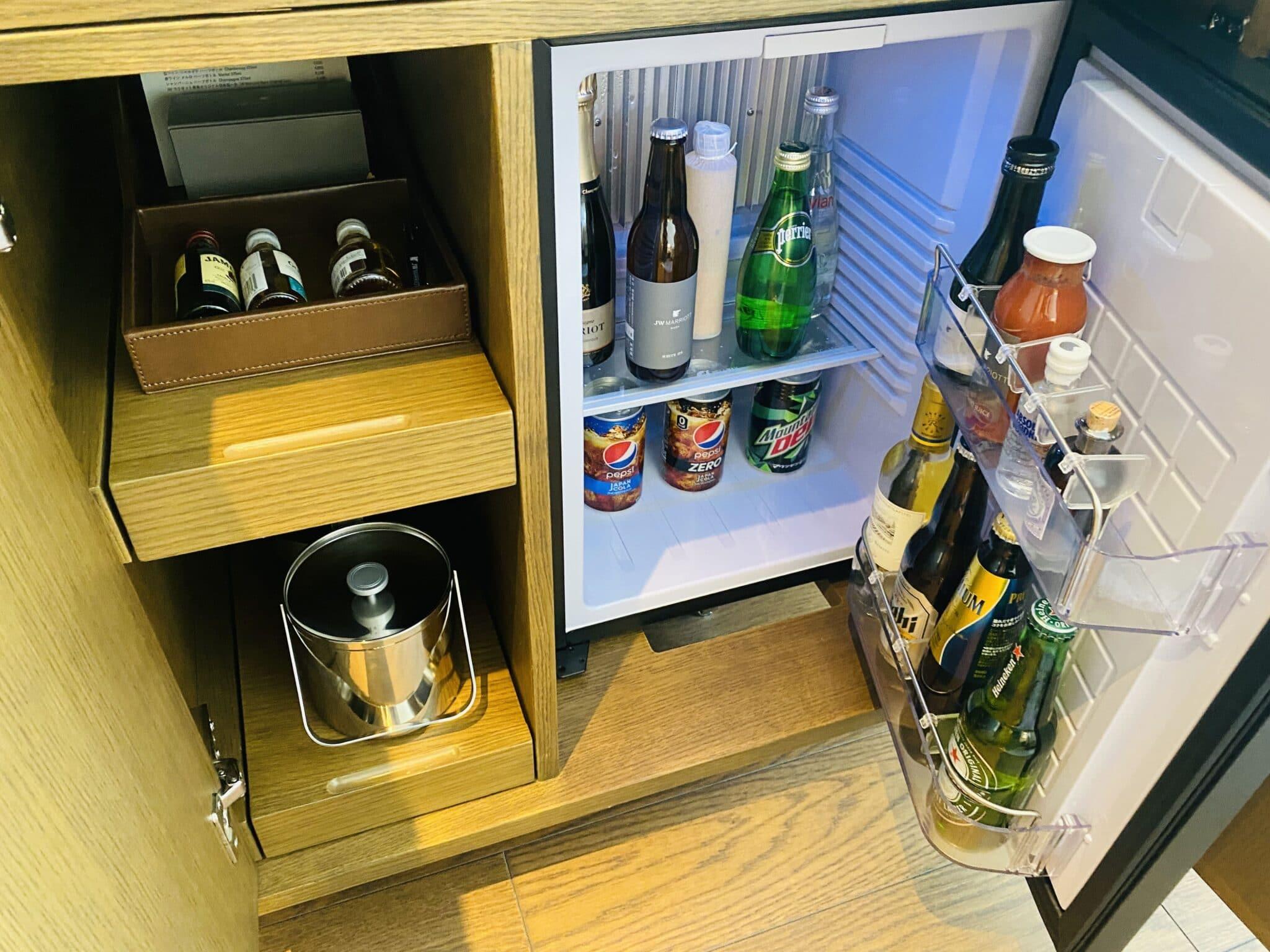 JWマリオットホテル奈良の冷蔵庫中身