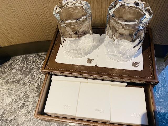 JWマリオットホテル奈良の洗面台コップ