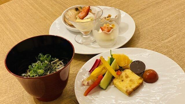JWマリオットホテル奈良のエグゼクティブラウンジメニュー