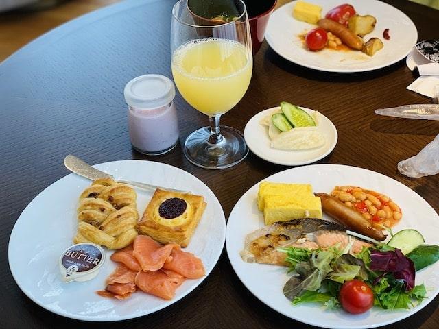 JWマリオットホテル奈良のエグゼクティブラウンジ朝食メニュー